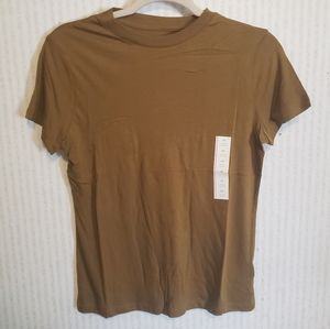 Olive Green T-shirt a new day XS womens cotton